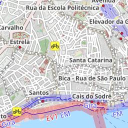 Bike Lanes Lisbon Lisbon Bike Map