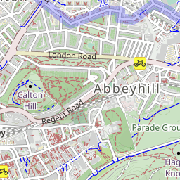 Royal Botanic Gardens from Edinburgh Waverley walking route Car